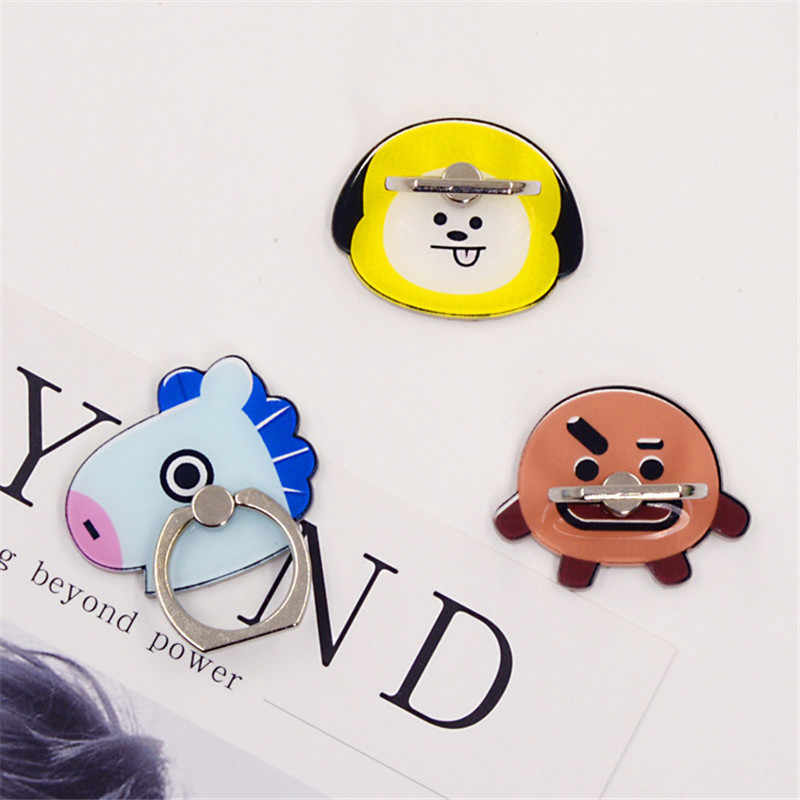 New Design 1 Piece Universal Cartoon Finger Ring Holder Stand Lovely Horse Bunny Smartphone for Iphone Xiaomi