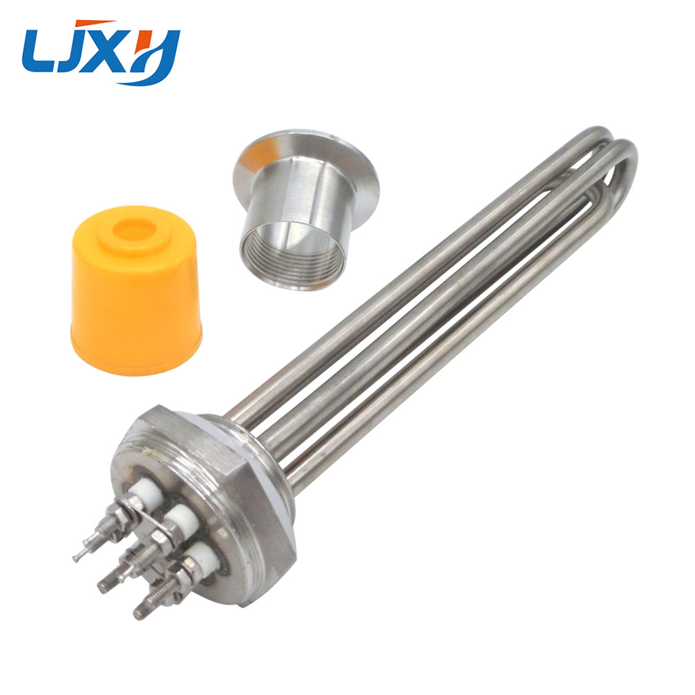 LJXH DN32 Tubular Heater Heating Element 220V/380V 304Stainless Steel 1.2Thread Immersion Water Heating Tube with plug Head Nut manuel ritz пиджак