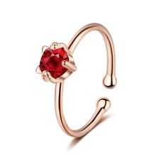 Everoyal Charm Zircon Red Round Lady Rose Gold Rings Jewelry Trendy Silver 925 For Women Finger Accessories Female
