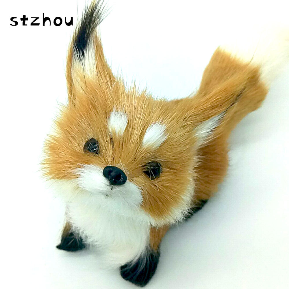 Hot Sale Brown Simulation Polyethylene Furs Squatting Model Toys Fox For Home Decoration Birthday Gift StZhou simulation cute squatting white cat 35x15cm model polyethylene