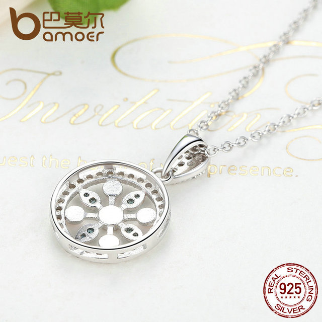 Sterling Silver Blooming Flowers Necklace