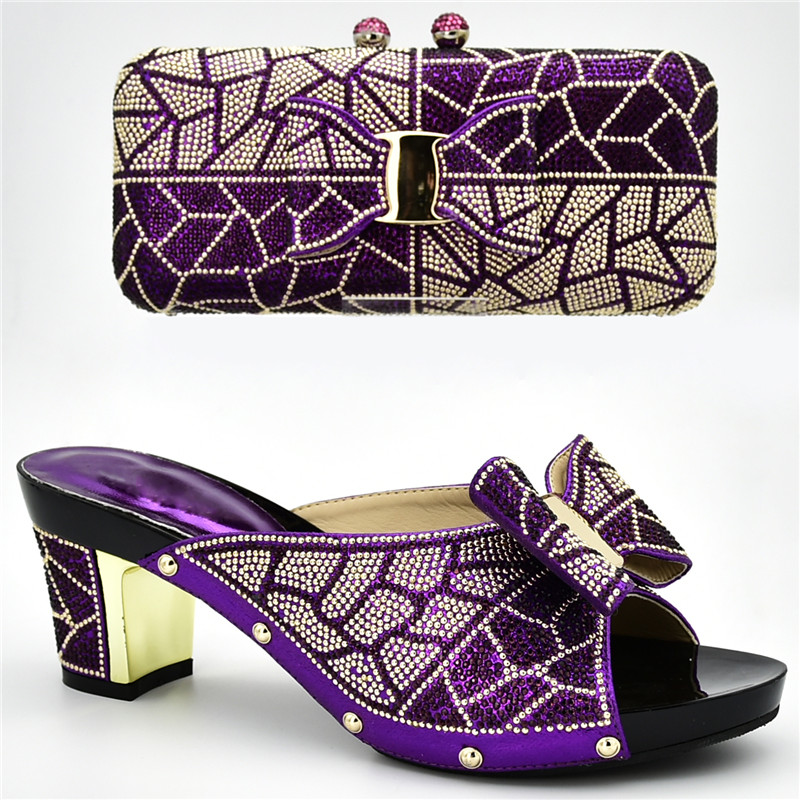 Bolso Decorado Tacones Juego A Y plata amarillo Imitación Bolsos Con Africanos oro Diseño Diamantes púrpura Negro azul Zapatos De Último 8qP5qEw
