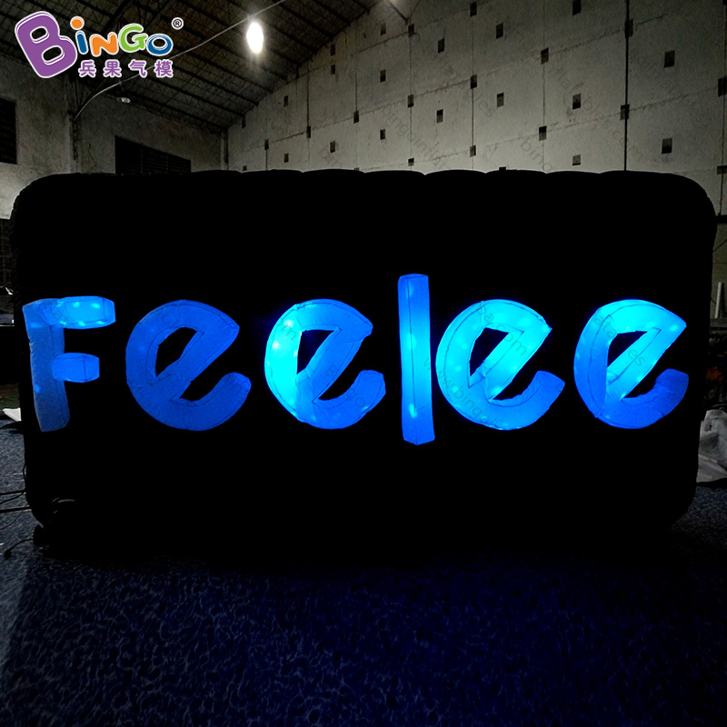 Customized 4X0.5X2 meters lighting inflatable letters / portable logo inflatable letter/ large inflatable letters toys