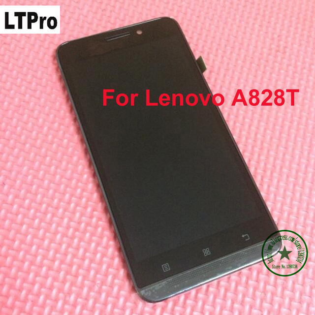ltpro black 100 warranty working lcd touch screen digitizer assembly with frame for lenovo a828t