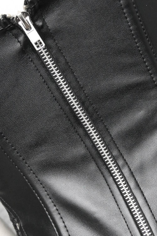 Plus-Size-Women-Excellent-New-Design-Black-Faux-Leather-Lace-Bustier-Gothic-Sexy-Espartilhos-Corselet-Lingerie (4)
