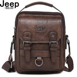 JEEP BULUO tout nouveau sac à bandoulière homme multi-fonction hommes sacs à main grande capacité sac en cuir fendu pour homme voyage