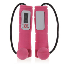 JHO-Adjustable Digital Calorie Counting LCD Jump Speed Rope – Pink