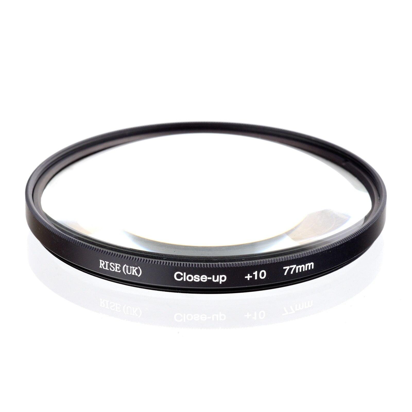 RISE UK 77mm Close Up 10 Macro Lens Filter for Nikon Canon SLR DSLR Camera Free