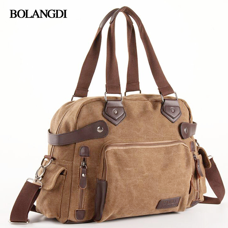 BLD Brand Travel Bag Large Capacity Men Hand Luggage Travel Duffle Bags Shoulder Canvas Weekend Bags Multifunctional Travel Bags fashion men leather travel bag large capacity duffle handbag famous brand quality luggage messenger sac a main bolsa xa386h