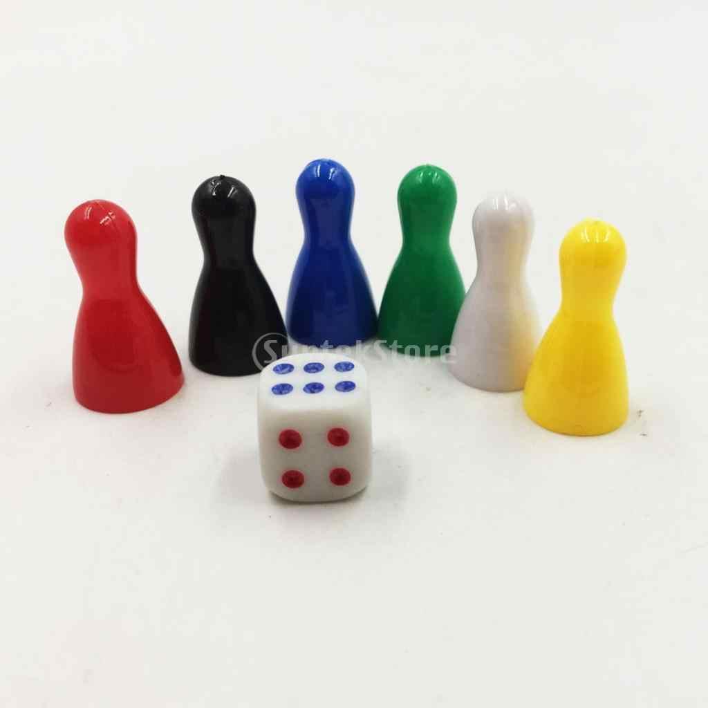 6 قطعة البيدق الشطرنج البلاستيك لعبة قطع قطعة شطرنج الشطرنج قطعة و لعبة اللعب مجموعة نرد ل مجلس/لعبة ببطاقات ورقية اكسسوارات الاطفال لعب هدايا