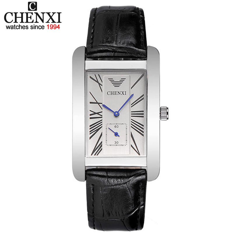 CHENXI High Quality Men Black Lleather Quartz Movement Male Watches Business Casual Style Watch Mens Clock Gift Wristwatch