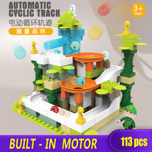 XINGBAO NEW Electric Jungle Slide Big Bricks Duplo Building Blocks 113PCS Toy Childrens Novel Gift DIY Compatible with Logo