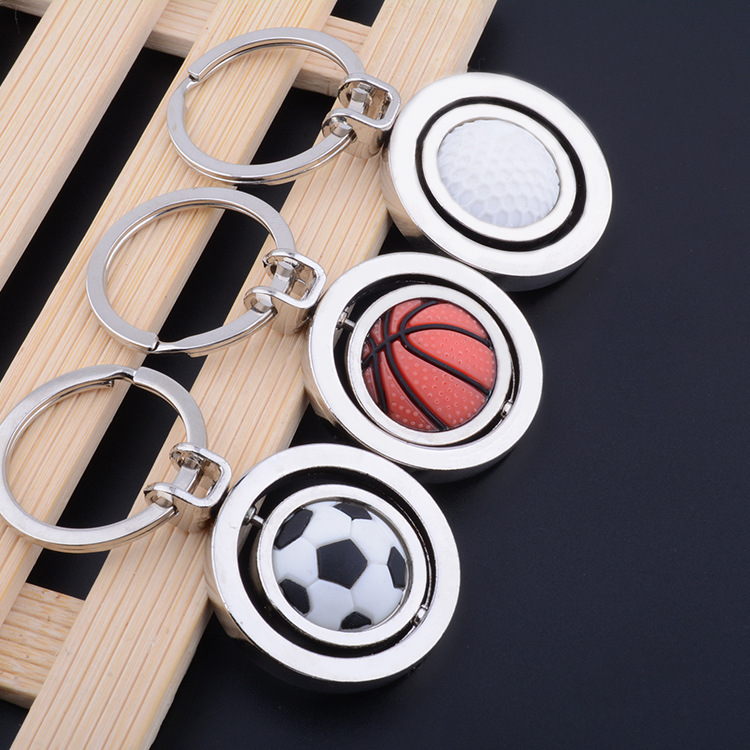 30 pcs/lot Creative keyring keychain toys Basketball football golf movable pendant set keychain gifts