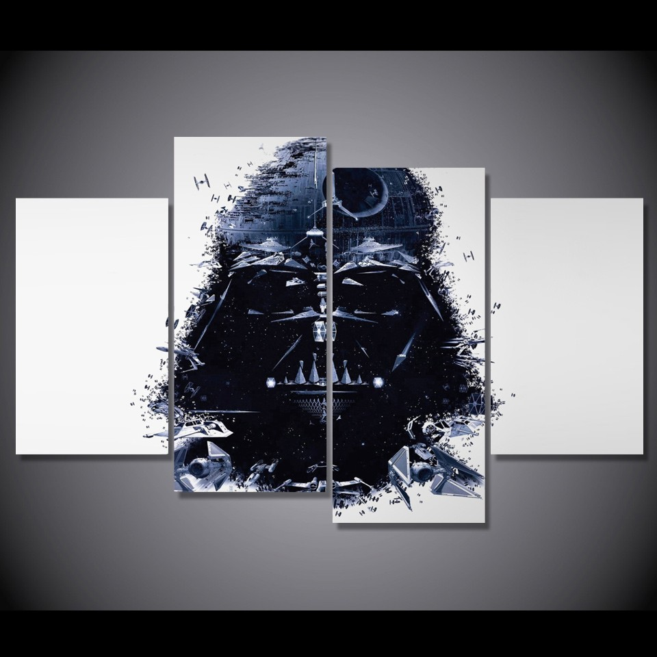 Aliexpress com buy 4 piece canvas star wars canvas picture painting room decor print poster wall art wd 1442 from reliable wall art suppliers on