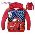 Мода Дети Толстовки Автомобили Pixar Толстовка Куртка Весна Осень Пальто Дети С Длинным Рукавом Рубашки Вскользь Мальчиков Верхней Одежды Одежды