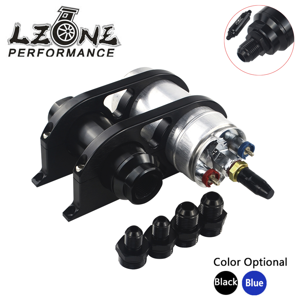 LZONE 44mm 60mm Dual Double Billet Fuel Pump Filter Mounting Bracket Clamp Kit 044 Fuel pump