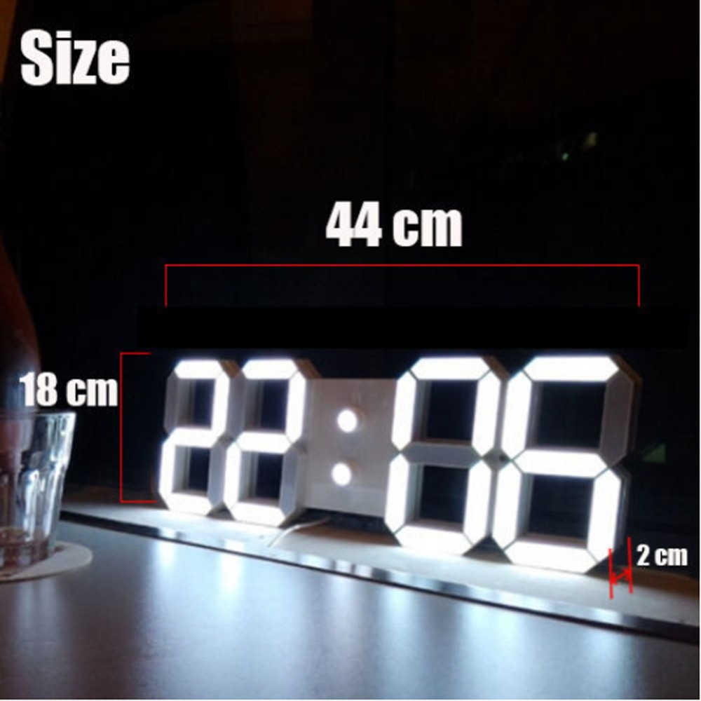 aliexpresscom  buy  large modern d design digital led wall  - aliexpresscom  buy  large modern d design digital led wall clockwatches  or  hour display alarm clock with remote control for homedecor from