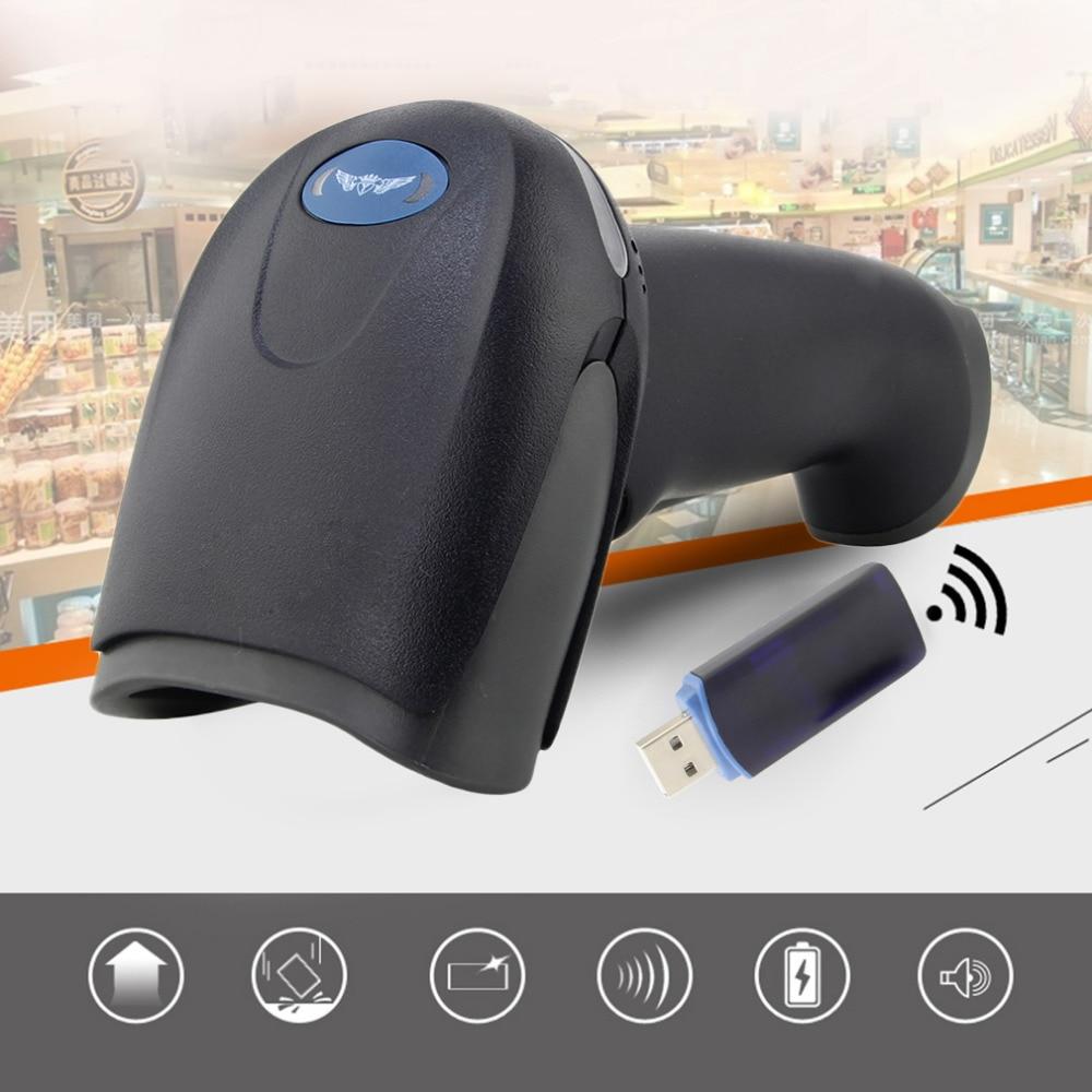 Auto sleep Single Line Scan 3000 12000 lux 433MHz Wireless Laser Barcode Scanner Reader Memory Up