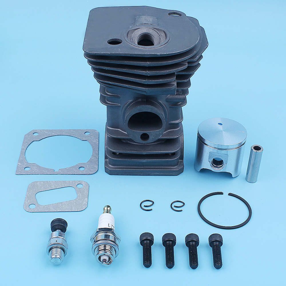 Tools : 40mm Cylinder Piston Ring Gasket Kit For Husqvarna 340 345 E Jonsered 2141 2145 Chainsaw Nikasil Coated Plated Decompression