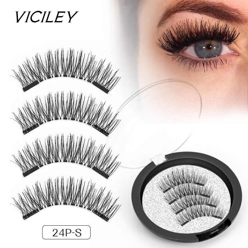 e5204a594bd Detail Feedback Questions about VICILEY magnetic eyelashes 6D magnet lashes  with double tiny magnets Natural False Eyelashes Handmade Eye Lashes  Extension ...