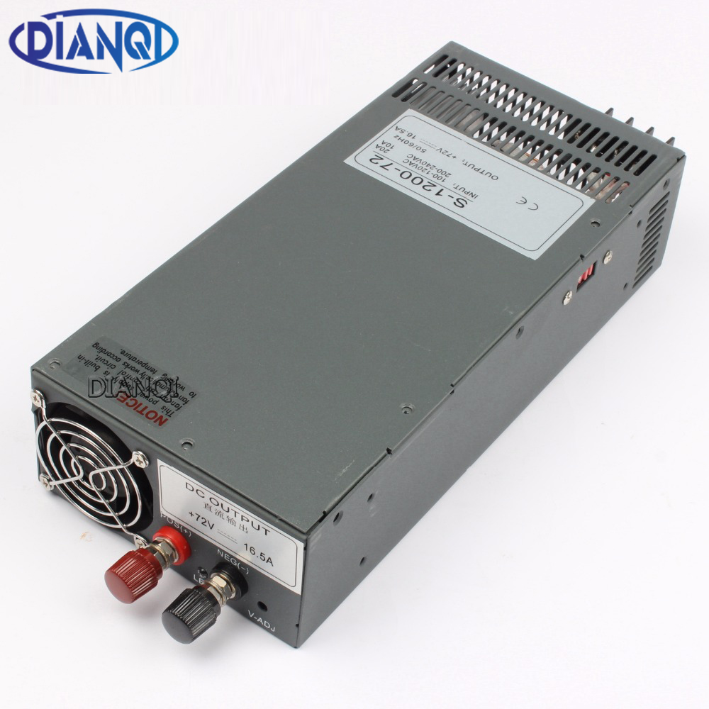 DIANQI Switching power supply 1200W 72V 13.5V 24V 90V 36V POWER SUPPLY for LED Strip light AC to DC power suply input 110v 220v цена