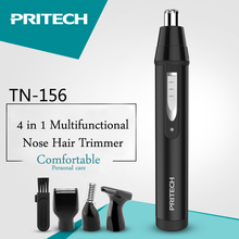 ФОТО pritech 4 in1 nose hair trimmer for men professional eyebrow trimmer electric ear hair trimmer protable face care electric razor