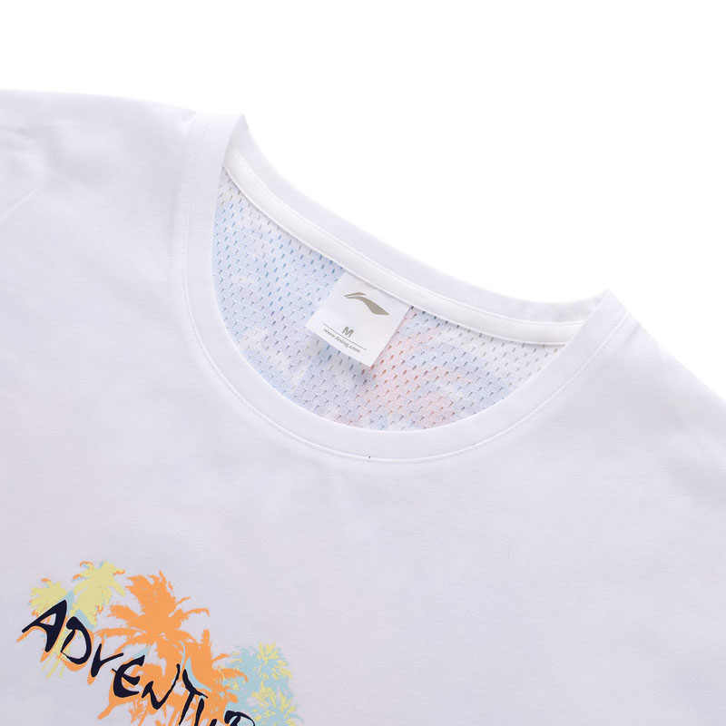 (Break Code) li-Ning Vrouwen Outdoor Tee Loose Fit 66% Katoen 34% Polyester Voering Li Ning Sport Oversize T-shirts ATSP086 WTS1498