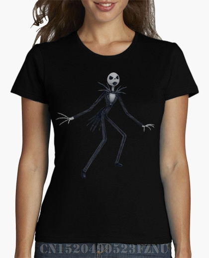 Summer black friday t-shirt womens Jack Skellington Kingdom Hearts Chica Short sleeves Fashion Knitted funny tees girl Clothing