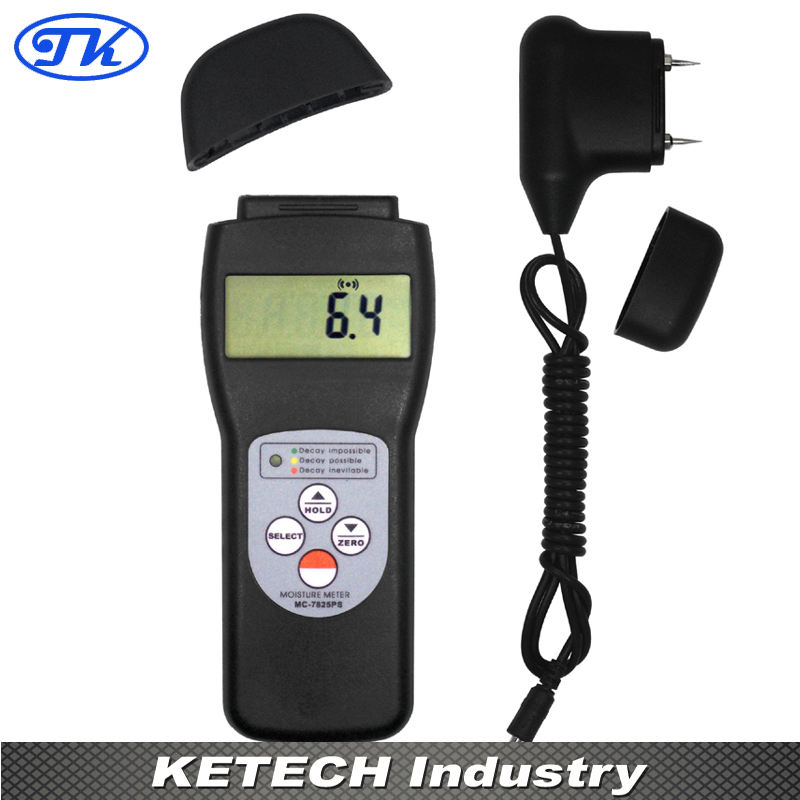 Over 150 Species Wood Moisture Meter MC-7825PS mc 7806 digital moisture analyzer price with pin type cotton paper building tobacco moisture meter