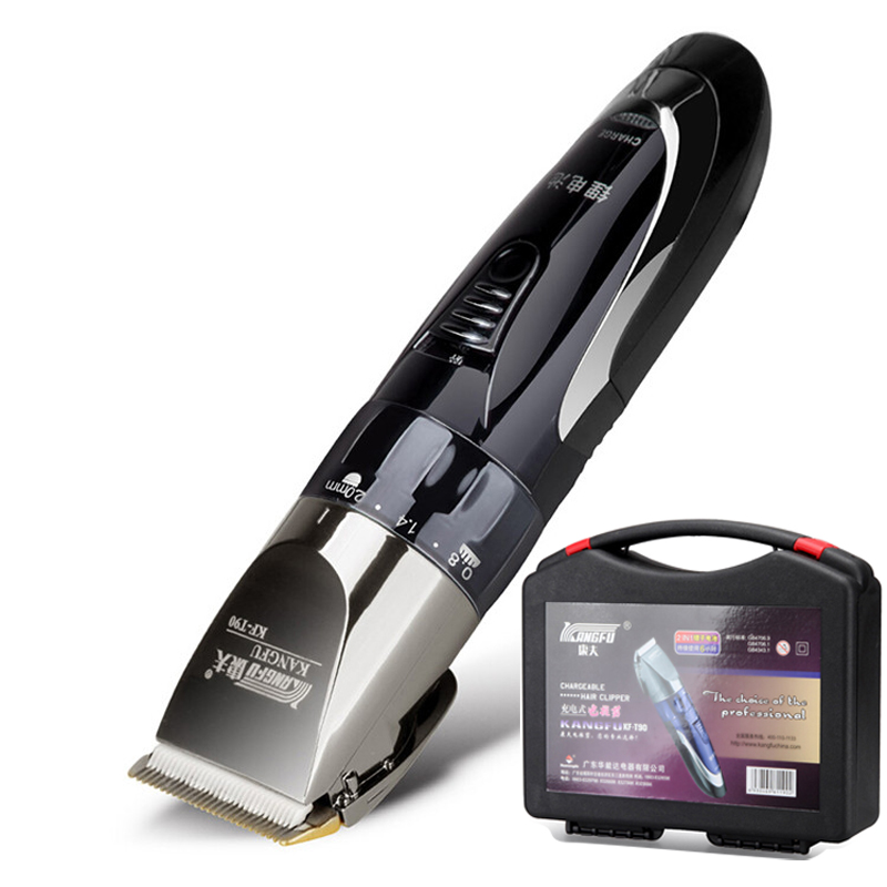 110V-220V Titanium Blade Brand Electric Hair Trimmer Hair Clipper Cutting Machine for Men & Children With Tool Box 110 240v low noise rechargeable hair trimmer titanium blade 0 8 2 0mm adjustable hair clipper with 4 limit comb km 6688 s43