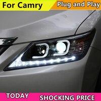 Автомобильный Стайлинг корпус передней фары для Toyota Camry V50 фары 2012 2013 2014 светодиодный фары DRL H7 HID Ксеноновые фары ближнего и дальнего света bi