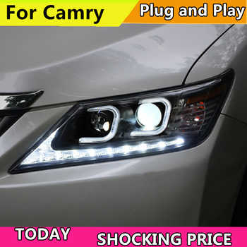 Car Styling Head Lamp Case For Toyota Camry V50 Headlights 2012 2013 2014 LED Headlight DRL H7 HID Xenon Low Beam bi-xenon lens - DISCOUNT ITEM  20% OFF All Category