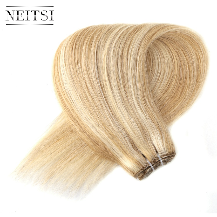 Neitsi Straight Machine Made Remy Ember Haj Extensions 20
