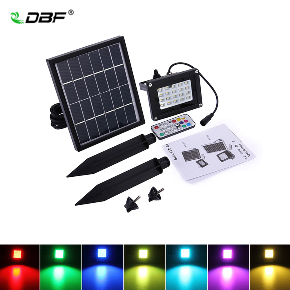 Garden Lights Kopen Kopen Goedkoop Dbf Led Solar Overstroming Licht 10 W Rgb Outdoor