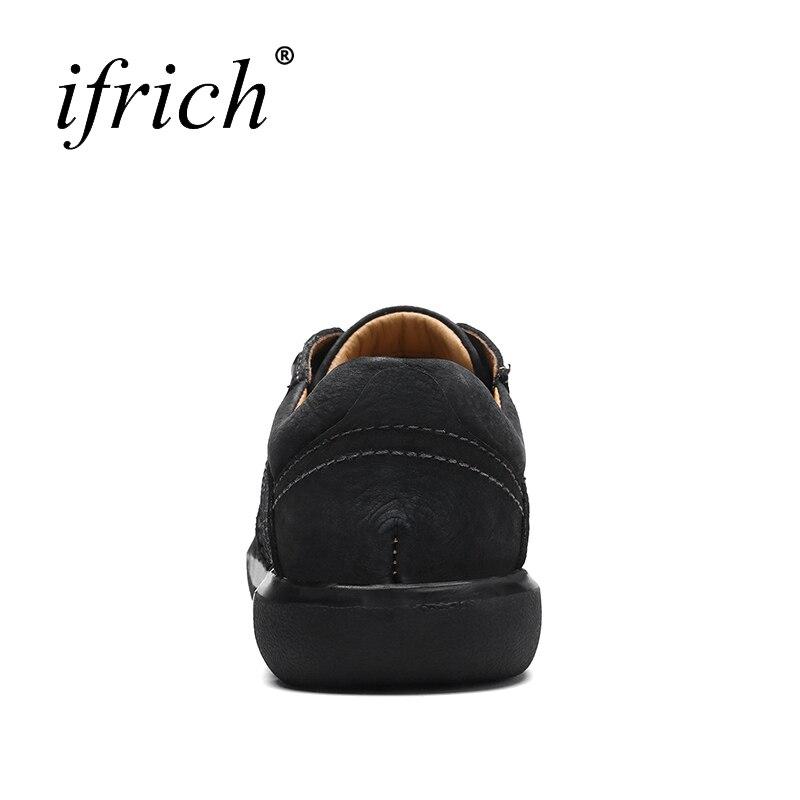 Printemps Hommes Décontractées khaki Automne Taille 11 En Chaussures Mode Sneakers Black Main Noir brown Cuir Véritable POXiuTZlkw