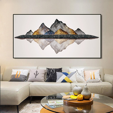 Modern Abstract Piantings Posters and Prints on Canvas Wall Art Mine Mountain Pictures for Living Room Decor No Frame