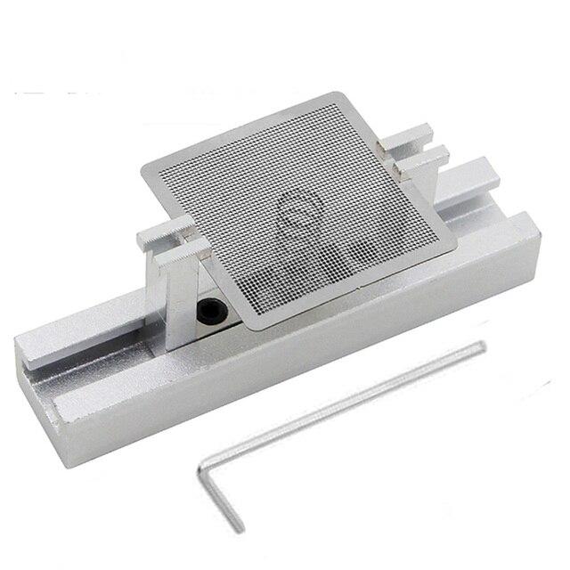 29 stücke BGA Direkt Wärme Reballing Universal Schablonen mit Vorlage Jig Für SMT SMD Chip Rework Reparatur Flussmittel    -