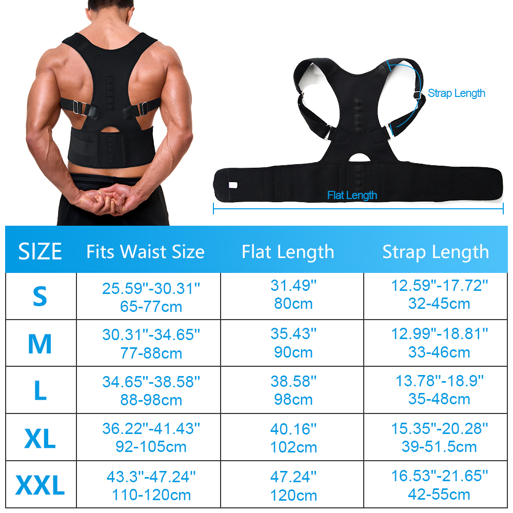 Comfortable Posture Corrector Belt with 10 High Energetic Magnets to Prevent Humpback and Pull Shoulder and Back to Correct Posture 5