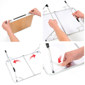 Image 3 - VILEAD Portable Folding Picnic Table Aluminum Ultralight Waterproof Foldable Hiking Camping Self Driving Travel 61*42*27 cm