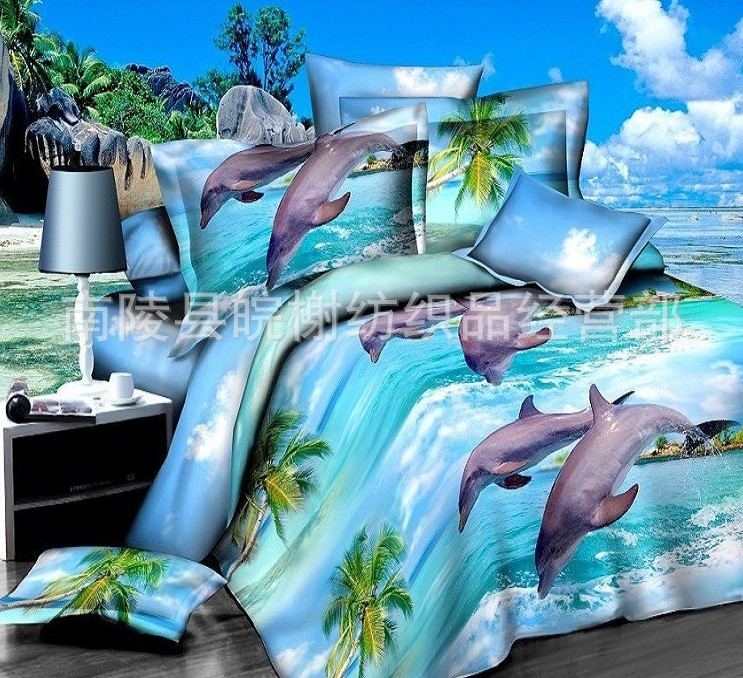 Aliexpress.com : Buy 3D Dolphin quilt cover Bedding set Blue Sea ... : dolphin quilt - Adamdwight.com