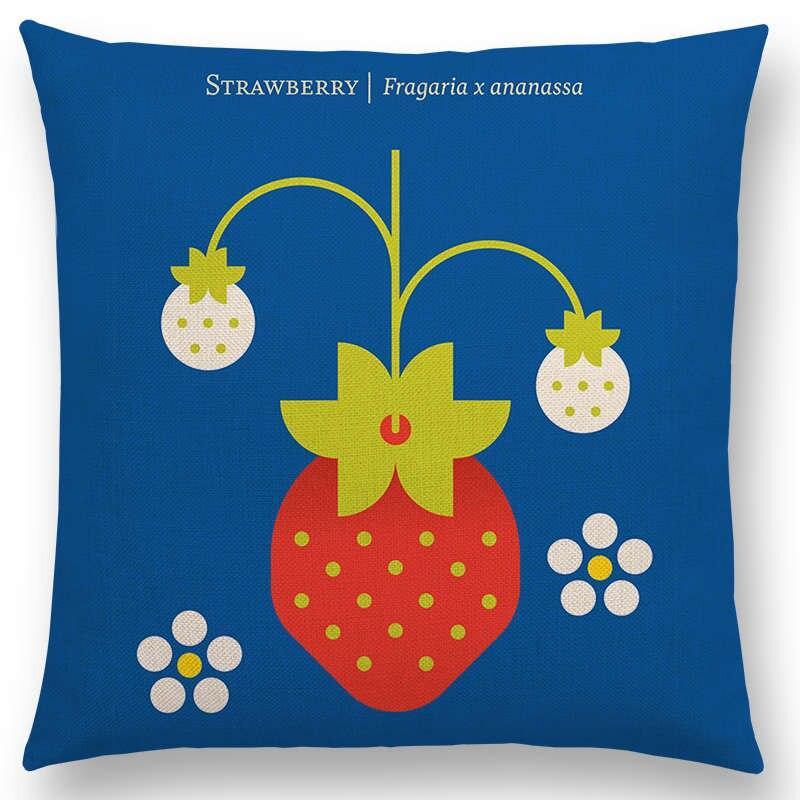 Garden Supplies Bbq Spirited Fruit Cushion Fruit Cushion Fruit Seat Cushion Chair Cushion Seat Cover Throw Pillow Strawberry Style