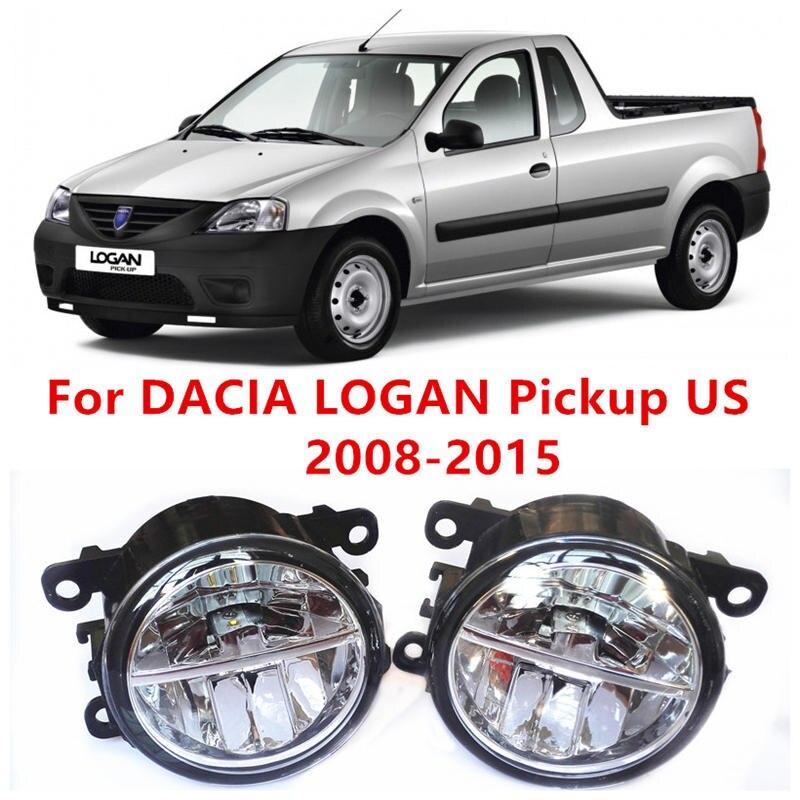 ФОТО For DACIA LOGAN Pickup US  2008-2015 Fog Lamps LED Car Styling 10W Yellow White 2016 new lights