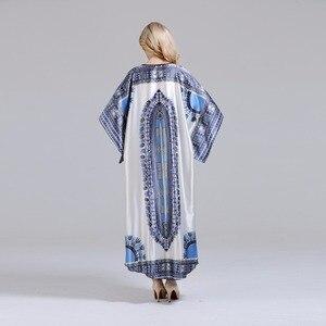 Image 5 - ユニークなdashikiageダイヤモンド襟見事なエレガントなアフリカdashiki女性ドレス