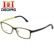 DEDING, для детей, для детей, негабаритная оправа, прозрачные линзы, очки для глаз(От 5 до 12 лет), для мальчиков и девочек, прочные очки с силиконовыми носоупорами DD1365