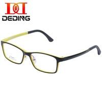 DEDING ŻARTUJE Dzieci Ramka Clear Lens Okulary Oversize (wiek 5-12) chłopiec Dziewczyna trwałe okulary w/silicon noski DD1365