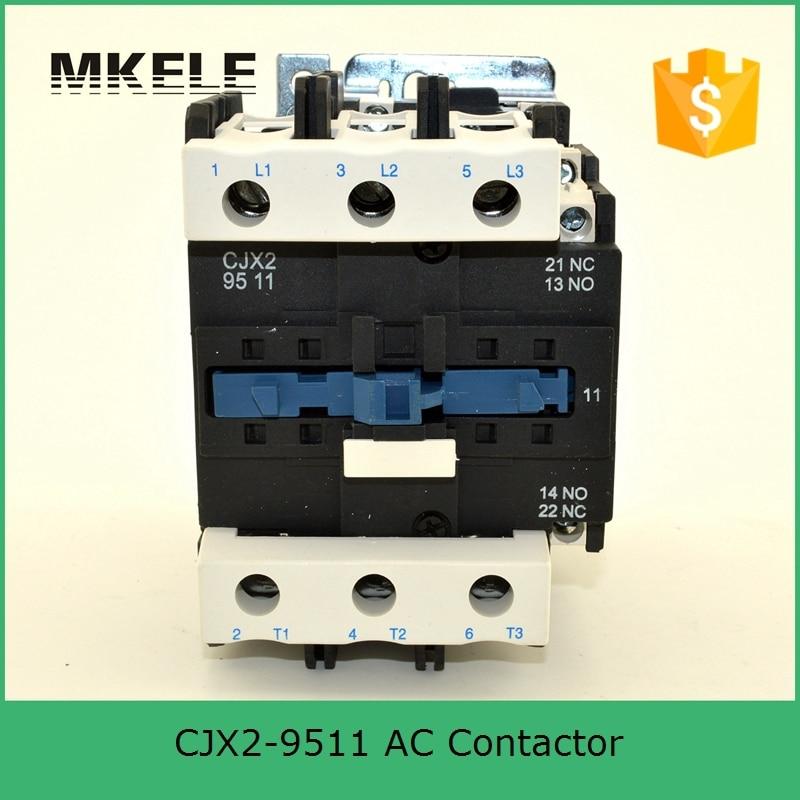 HighQuality CJX2-9511 3P+NO+NC 380V AC-3 95A Nonc Electrical Contactor Ac Contactor LC1-9511 tesys f contactor 3p 185a lc1f185 lc1f185u7 lc1 f185u7 240v ac
