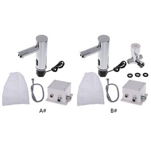 Image 2 - Bathroom Automatic Infrared Sensor Sink Faucet Touchless Basin Water Tap Deck Mounted W329