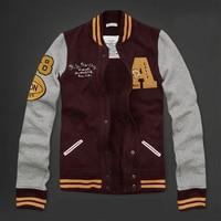 Men baseball jacket sweatshirt cardigan fleece plus velvet thicken spring big size men sweatshirt jacket