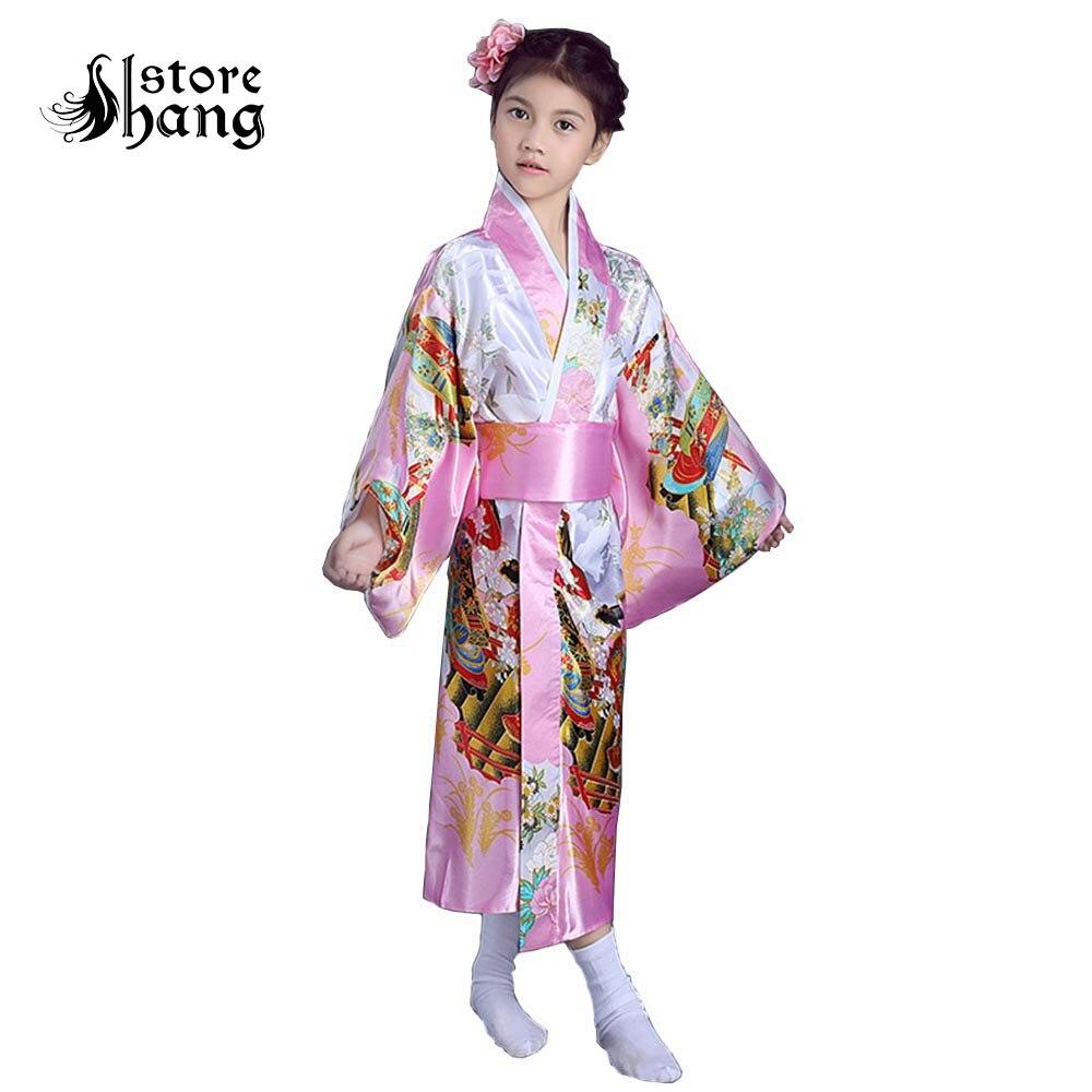 Kids Kimono Robe Costume Girl Children Japanese Yukata