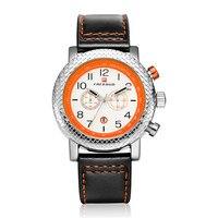 Mens Watches Top Brand Luxury Men Military Sport Luminous Wristwatch BENYAR Chronograph Leather Quartz Watch Relogio